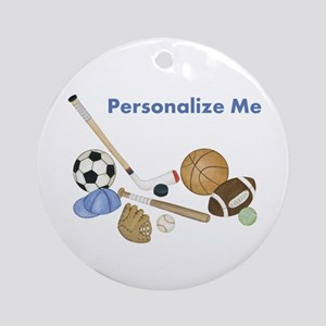 Personalized Sports Ornament (Round)