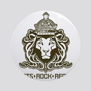 roots rock reggae qr2 Round Ornament