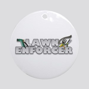 Garden Lawn Enforcer Ornament (Round)
