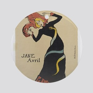 Vintage poster - Jane Avril Round Ornament