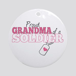 Grandma of a US Soldier- Ornament (Round)