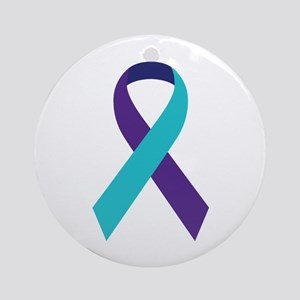 Suicide Awareness Ribbon Round Ornament