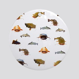 Catfish shower curtain Round Ornament