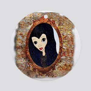 Siouxsie Trapped in a Mirror Round Ornament