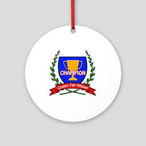 State Fair Ribbon Ornaments - CafePress