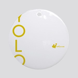 YOLO Lime Round Ornament