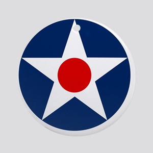 United States Army Air Corp Roundel Round Ornament