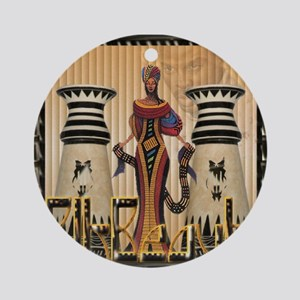 3-african queen.jpg Round Ornament