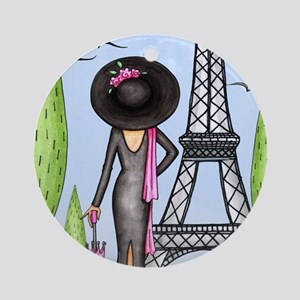 Eifel Tower Fashion Ornament (Round)