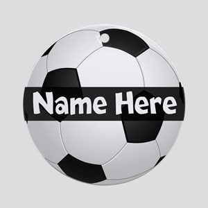 Personalized Soccer Ball (round) Round Ornament
