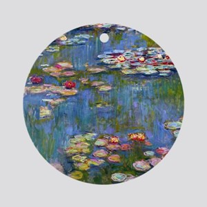 Water Lilies 1916 by Claude Monet Round Ornament