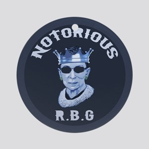 Notorious RBG III Round Ornament