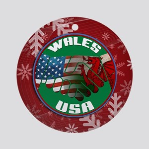 Wales USA Friendship Ornament (Round)