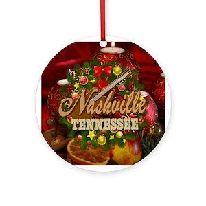 Nashville Tn Christmas Sf 05 Round Ornament