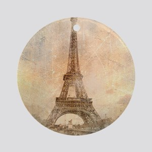 Vintage Paris Round Ornament