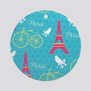 Paris Round Ornament