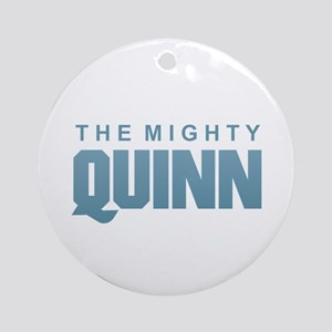 The Mighty Quinn Round Ornament