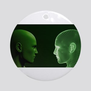 Ethics in Technology Round Ornament