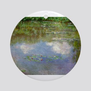 Water Lillies (The Clouds) Ornament (Round)