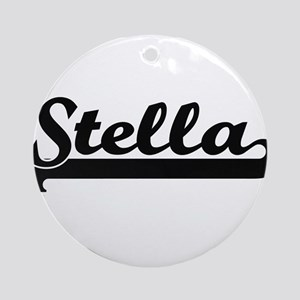 Stella Classic Retro Name Design Ornament (Round)