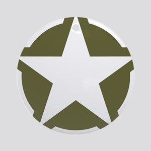 WW2 American star Round Ornament