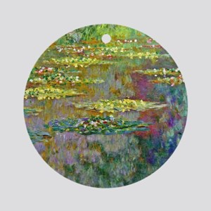 Water lilies by Claude Monet Ornament (Round)