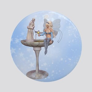 Fairy at the fountain Ornament (Round)