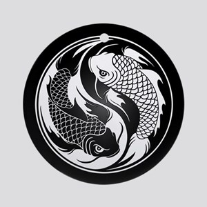5d1b91dd7 Black and White Yin Yang Koi Fish Ornament (Round)