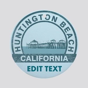 Huntington Beach Ornament (Round)