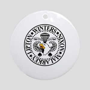 Band of Brothers Crest Round Ornament