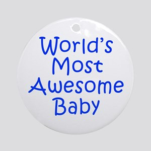 World s Most Awesome Baby-Kri blue 300 Ornament (R