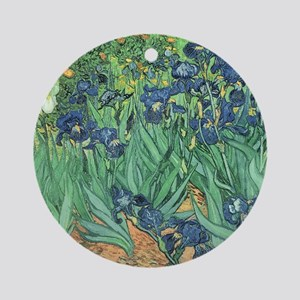 Irises, 1889 by Vincent Van Gogh Round Ornament