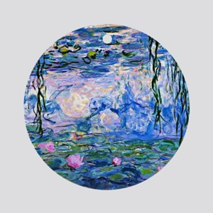 Monet - Water Lilies, 1919 Round Ornament