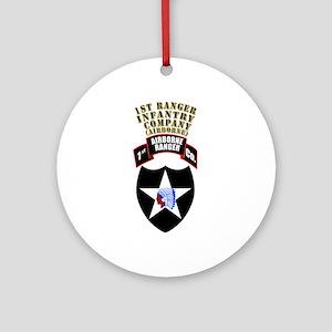 SOF - 1st Ranger Infantry Co - Abn Ornament (Round