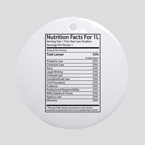 Nutrition Facts For 1L Ornament (Round)