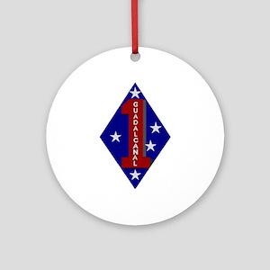 1st Marine Division Ornament (Round)