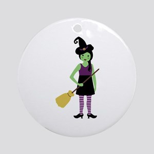 Magic Witch Ornament (Round)