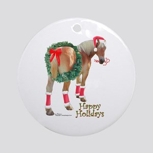 Christmas Draft Horse Belgian Ornament (Round)