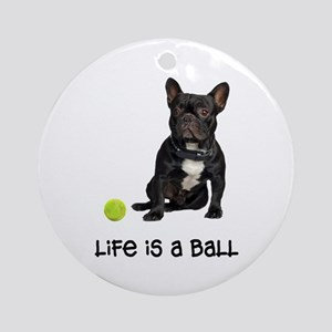 French Bulldog Life Ornament (Round)