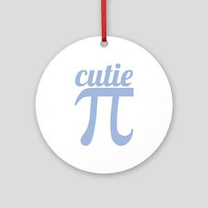 Cutie Pi Blue Ornament (Round)