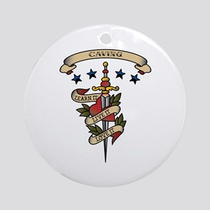 Love Caving Ornament (Round)