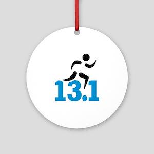 Half marathon 13.1 miles Round Ornament