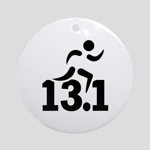 Half marathon runner Round Ornament