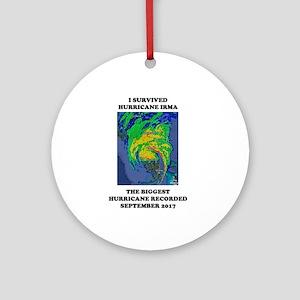 Survived Hurricane Irma Round Ornament