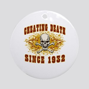cheating death 1932 Round Ornament