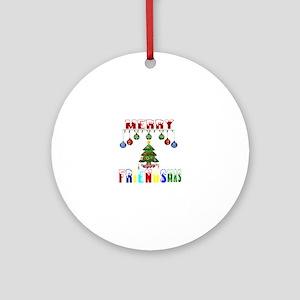Merry FRIENDSmas Round Ornament