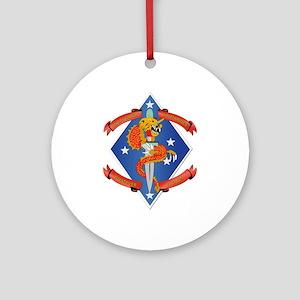 1st Bn - 4th Marines Ornament (Round)