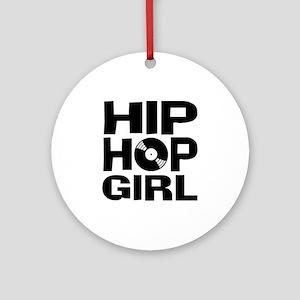 Hip Hop Girl Ornament (Round)