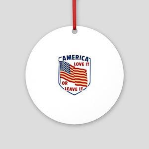America Love it Ornament (Round)