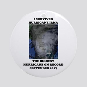 Survived Hurricane Irma 2 Round Ornament